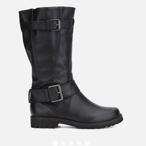 Gentle Soles Moto Boots Buckled Up Black 7 leather